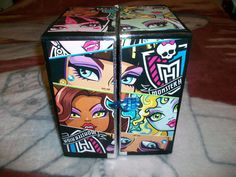 DIY Monster High Orgainizer: It is amazing what this young lady does with two cardboard boxes.