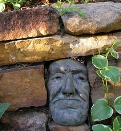 Grandpa Steve by Jerry Boyle, stacked stone wall