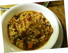 donnabardoc Donna Bardocz This is a healthy and hearty soup that is made with Lundberg Organic Long Grain White Rice along with Organic Wild Rice.  It has lots of veggies and turkey ham in it too.  It is very tasty and my family absolutely loves it!#WIN #s