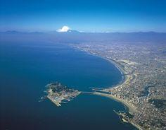 Enoshima in Sagami Bay, Kanagawa, Japan
