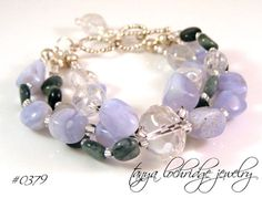 Blue Chalcedony & Eagle Eye Agate Gemstone…
