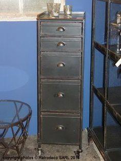 Semainier Storage 5 tiroirs, déco atelier, Chehoma