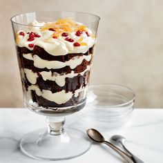 This dreamy trifle, with its layers of rich gingerbread cake and creamy mousse, can be assembled ahead of time and served straight from the fridge.