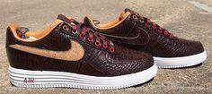 Nike Air Force 1 Lunar Bespoke Reversed Cork by Slovadon Nike Turf Shoes, Nike Free Shoes, Air Force One Shoes, Nike Air Force, Af1 Shoes, Marathon Running Shoes, Comfortable Sneakers, Sneakers Fashion, Shoe Boots