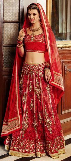 153462: # Lehenga #bridalwear #WeddingCouture #red #indianfashion #ethnicwear #embroidery #floral #sale #MakarsankrantiSale #onlineshopping #trends2015 #partywear #bridetobe