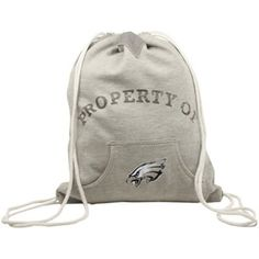 Philadelphia Eagles Hoodie Cinch Bag - Ash