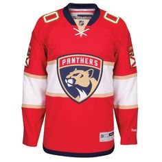 a9f241c2973 Men s Florida Panthers Reebok Red Home Premier Custom Jersey
