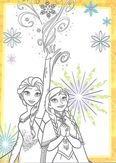 Frozen Coloring Pages, Colouring Pages, Coloring Sheets, Coloring Books, Disney Princess Frozen, Disney Paintings, Princess Coloring, Printable Coloring Pages, Coloring Pages For Kids