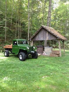 Still a work in progress. But a great ole truck to cruise the lake in and drive up to my camp. Jeep Pickup, Jeep 4x4, Jeep Truck, 4x4 Trucks, Custom Trucks, Willis Pickup, Willis Truck, Willys Wagon, Jeep Willys