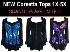 Womens Plus Size #Lingerie for full figured women sizes 12W to 44W+  http://www.planetgoldilocks.com/plussize_lingerie.htm #plussize lingerie #corsets #fashion