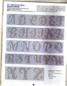 Fabinha Gráficos Para Bordados: Ponto Oitinho #freehuckembroidery alphabet