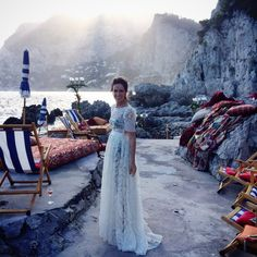 Dolce & Gabbana Alta Moda Fall 2014 and Hamish Bowles Head to Capri - Vogue Daily - Fashion and Beauty News and Features - Vogue Dolce & Gabbana, Fashion Show Collection, Couture Collection, Garance, Italian Fashion Designers, Mode Style, Bridal Style, Wedding Gowns, Fashion Photography