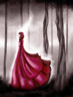 Hijabi in Wonderland Red Dress
