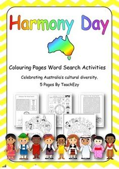 Harmony Day Teaching Resource Australia Teaching Social Studies, Teaching Science, Teaching Resources, Harmony Day, Easy Coloring Pages, Australia Day, Grandparents Day, Toddler Activities, Education