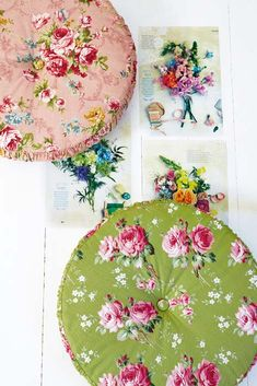 via Petitevanou: How to make round, rose-print cushions - http://ideasmag.co.za/craft-decor/printed-rose-cushions/#!lightbox[pp_gal]/0/