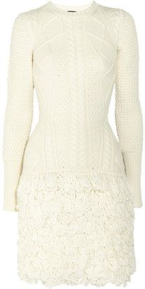 ShopStyle: McQ Alexander McQueen Cable-knit wool dress
