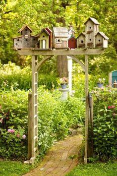 Birdhouses In The Garden 14