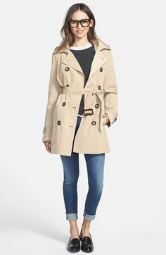 MICHAEL Michael Kors Trench Coat with Detachable Hood & Liner ...