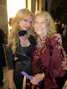 Audrey Tritto with Marta Marzotto at the opening of  Hermes Store in Milan - october 2013