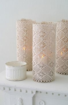 Lace candles