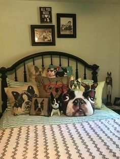 Isn't this like every Boston Terrier's home? ;-) We looooove our BT collectables!!!!