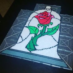 Rose - Beauty and the Beast perler beads by trixiebeard