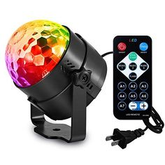 AOMEES Disco Ball Party Lights Strobe Light Sound Activated DJ Lights Stage Lights for Halloween Christmas Holiday Party Gift Kids Birthday Celebration Decorations Ballroom Home Karaoke Dance Light & Christmas Cart Disco Party Lights, Ball Lights, Disco Licht, Karaoke, Christmas Projector, Pub, Kids Birthday Gifts, Crystals, Lights