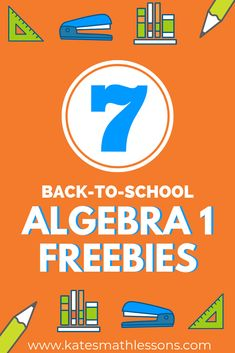Teaching Algebra 1 this coming school year? Save yourself some time and grab these free math resources! Maths Algebra, Math Fractions, Algebra Worksheets, Math Math, 8th Grade Math, Ninth Grade, Seventh Grade, Math College, Middle School Literacy