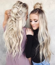 """1,135 Likes, 9 Comments - Braids & Bridal (@taylor_lamb_hair) on Instagram: """"Trouble trouble with these besties•• Braids by me & @hairby_chrissy •• @paigeecurtis @madicrum """""""