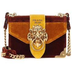 Prada Velvet Shoulder Bag (6.905 BRL) ❤ liked on Polyvore featuring bags, handbags, shoulder bags, purses, bolsas, prada, sac, multicoloured, brown purse and velvet shoulder bag