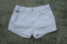 Calvin Klein Women's Short Shorts White Size 13 100 Cotton Free Shipping CK | eBay