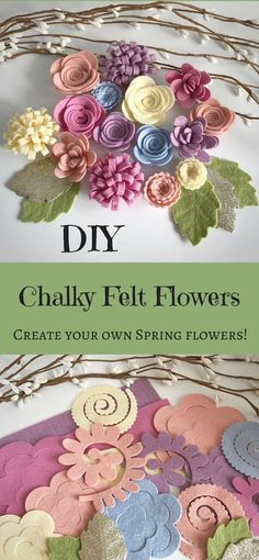 Think of what you could decorate with these DIY felt flowers! Spring wreaths, wedding decor, school rooms, homeschool, etc. Have fun! #affiliate #diyproject #flowers