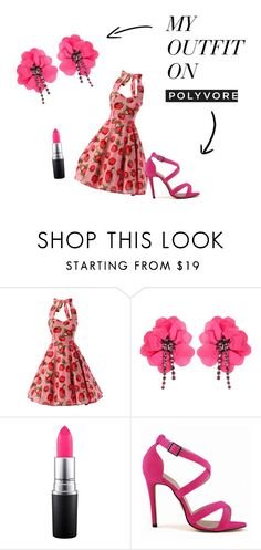 """pretty in pink"" by katniss4117 ❤ liked on Polyvore featuring Lanvin and MAC Cosmetics"