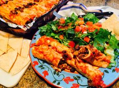 Food Fitness by Paige: Loaded Beef Enchilada's