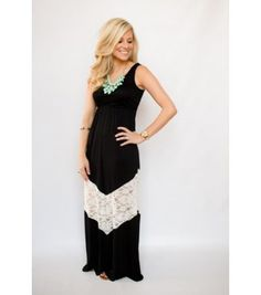 Endless Summer Lace Maxi Dress Black