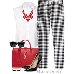 Black, white & red by bonnaroosky on Polyvore featuring T By Alexander Wang, Diane Von Furstenberg, Yves Saint Laurent, Henri Bendel and Style & Co.
