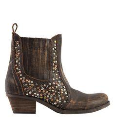 Another great find on #zulily! Brown Salsa Leather Bootie #zulilyfinds