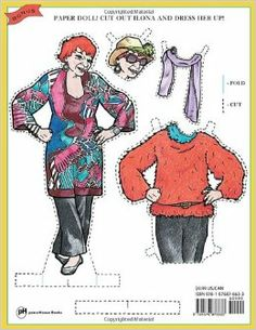 "OMG!  Senior Citizen Paper Dolls!  From the Advanced Style Coloring Book, based on the incredible blog, ""Advanced Style"", featuring some of the most fashionable senior citizens on the planet.  I WANT A COPY!"