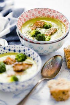 Peas soup with broccoli and salmon - Vellutata di piselli, broccoli e salmone