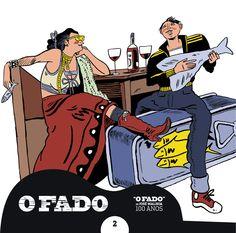 """#OFado - CD2 - Ilustrador: #NunoSaraiva / Texto: #JuliãoSarmento """"(...) É um prazer proibido."""" J.S."""