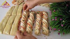 Pizza Recipes, Bread Recipes, Pretzel Pizza, Albanian Recipes, Flatbread Pizza, Italian Bread, Sushi, Pizza Dough, Snacks