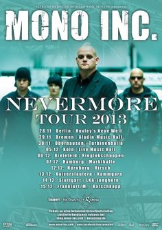 New tour in winter 2013 announced: NEVERMORE