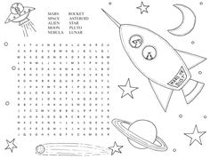 Try to use the solar system wordsearch that we have collected for your kids. The word search will increase the kids vocabulary about solar system Free Worksheets For Kids, Printable Activities For Kids, Puzzles For Kids, Book Activities, Solar System Worksheets, Solar System Activities, Solar System For Kids, Planet Coloring Pages, Space Coloring Pages