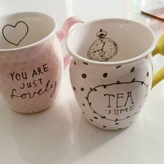 It's tea time! Deze mokken zijn geschikt voor thee, maar ook koffie, warme chocolademelk en meer. Bedankt voor je foto Chantal