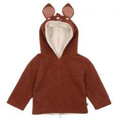 Oeuf nyc reversible bambi baby hoodie