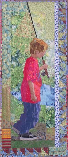 Ruth McDowell Quilts | Fisherboy..Ruth Mcdowell, love her work | art quilts | Pinterest