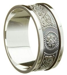 Another celtic warrior men's wedding band.