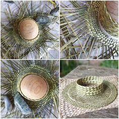 Flax Weaving, Willow Weaving, Weaving Art, Hand Weaving, Bamboo Crafts, Leaf Crafts, Hawaiian Hats, Maori Patterns, Basket Weaving Patterns