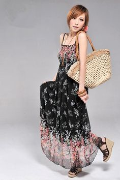 ff5c1befae790 Wanna going to the beach in hot days  Wanna be more special and cool in  summer days  The chiffon material and floral print design will bring you a  feeling ...