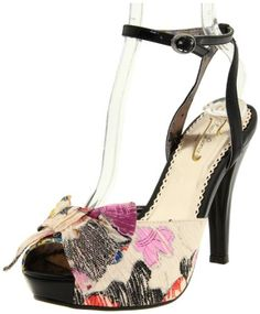 This exquisite woman's high heel sandal may flaunt a floral print but is certainly not a wallflower.   You'll be the center of a attention in the Poetic Licence All Tied Up.  Set in lightly textured floral upper with glossy accents, this shoe will be the perfect accent to any nighttime ensemble.  An adjustable buckle strap ensures a perfect fit atop a leg flattering 4 heel.  A fashion forward plat ...
